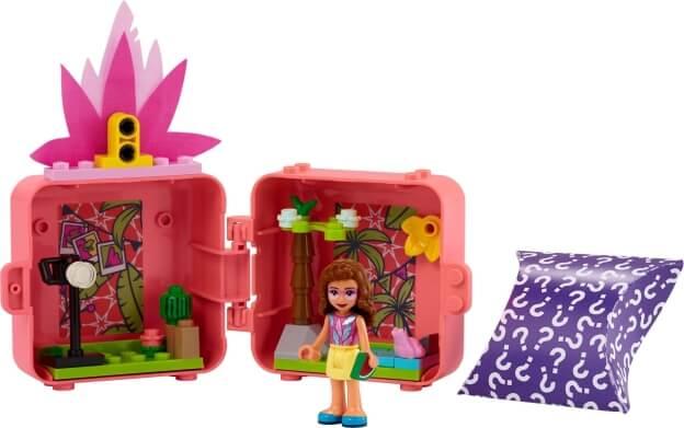 LEGO Friends 41662 Olivia a její plameňákový boxík sestaveno