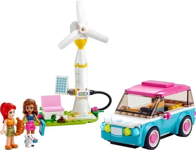 LEGO Friends 41443 Olivia a její elektromobil sestaveno
