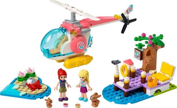 LEGO Friends 41692 Veterinářský záchranný vrtulník sestaveno
