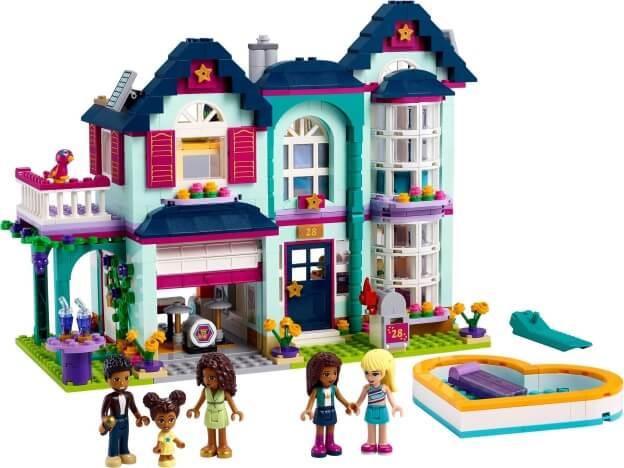 LEGO Friends 41449 Andrea a její rodinný dům sestaveno