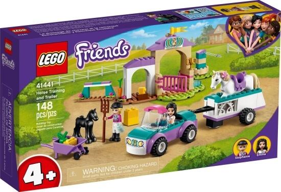 Stavebnice LEGO Auto s přívěsem a výcvik koníka