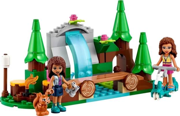 LEGO Friends 41677 Vodopád v lese sestaveno