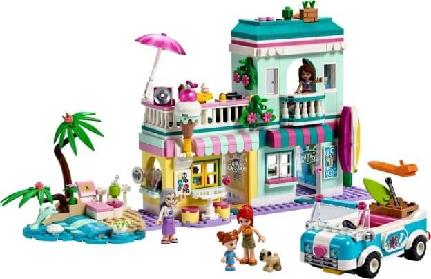 LEGO Friends 41693 Surfařský dům na pláži sestaveno